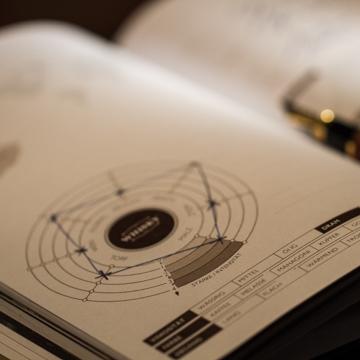 Tasting Notes, Tastingbook, Aromagrafik