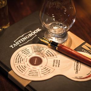TASTINGBOOK-Whisky mit Tool, Füller und Glas